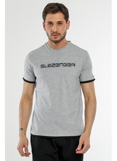 Slazenger Slazenger MASSIVE Erkek T-Shirt  Gri
